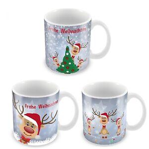 Weihnachtstassen aus Keramik Glühweintassen Glühweinbecher Weihnachtsbecher