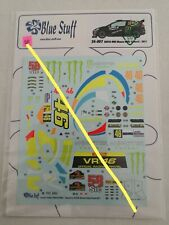 24/007 BLUE STUFF 1/24 rally decals FORD FIESTA WRC Monza Rally show 2011 Rossi