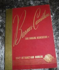BARNES CARRUTHERS FAIR BOOKING 1942 ATTRACTION ANNUAL BOOK POSTERS & INFO ON ACT