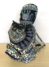 Cotton Backpack Bag New Indian Deer Mandala Unisex Multi Men Women Fashion Bags