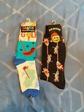 Ugly Christmas Socks Joe Boxer and Golf Grafix Vintage