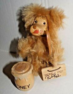 "Robert Raikes Collectible 5"" Tan Bear w/ Spoon & Honey Pot (98 of 500)"