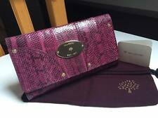 Pochette MULBERRY en serpent véritable, auth and NEW snake clutch