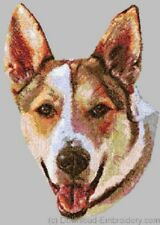 Large Embroidered Zippered Tote - Canaan Dog Dle1501