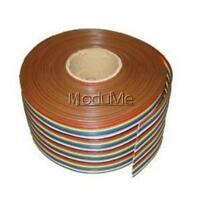 1M 3.3ft 40 Way 40 pin Flat Color Rainbow Ribbon IDC Cable Wire Rainbow Cable MO