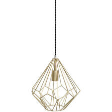 Katrina Metal Geometric Gold Wire Ceiling Electrical Pendant Light Shade