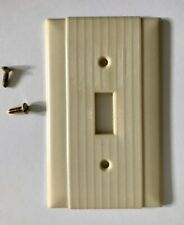 Vintage Uniline BAKELITE Single Toggle Wall Light Switch Plate Cover w/ Screws