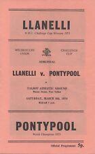 Mar 74 LLANELLI v PONTYPOOL Welsh Cup Semi Final