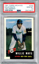 1991 Topps Archives Willie Mays 1953 Reprint PSA 10