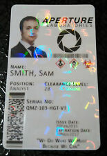 Portal 2 Aperture Laboratories Cosplay ID Badge Card - FULLY CUSTOMISABLE
