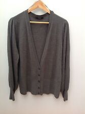 GEORGE Grey Plain Soft Knit Cardy.  20.  <N2351