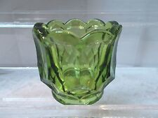 Kanawha Glass Co.  Olive Green Toothpick Holder- Mint Cond.
