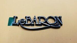 1982 Chrysler LeBARON trunk emblem badge OEM mopar NOS