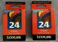 Lexmark 24 18C1524 Color Genuine Ink Cartridge New For X3500 X4500 Z1400 Lot 2