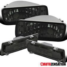 Para 85-92 Chevy Camaro humo Parachoques Luces lámparas de señal de vuelta + marcadores de lado 4PC