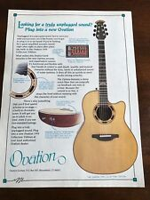 1994 8X11 PRINT Ad for OVATION ACOUSTIC GUITARS 1994 COLLECTOR'S EDITION