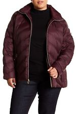 02152e2eb1b Michael Kors Hooded Packable Quilted Down Puffer Jacket Coat Plus 1x  Eggplant