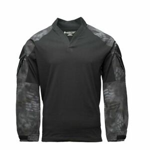 Kryptek Tactical LS Rugby, Color: Typhon Large 19TACRLSBKT5