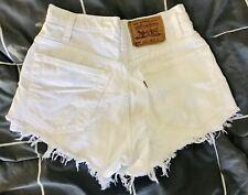 Levis Vintage Denim Shorts 26 Womens 8 White