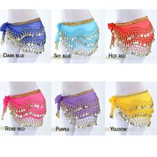 Whosale Lot 12X Belly dance Costume Adult Hip Scarfs Belt Skirt Scarf Gold Coins
