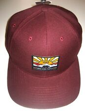 Vans Mens Grizzly Mountain Bear Wool Blend Hat Maroon Adjustable Free Ship NWT