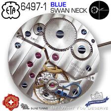 MOVEMENT ETA UNITAS 6497-1, BLUE SWAN NECK PVD, TOP-ELABORE, CDG, BLUE SCREWS