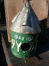 Adorable IDAHO 1948 VINTAGE STYLE LICENSE PLATE BIRD HOUSE - Yard Art cute👌😍!!