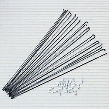 20 Stück DT SWISS Messerspeiche Aerolite 2.0/0.9 x 296 mm schwarz Alu Nippel