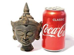 Antique Terracotta Model Tibetan  Buddha Head a/f damaged L@@K & READ