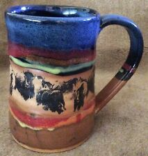 Always Azul Pottery Colorado BISON One Large MUG