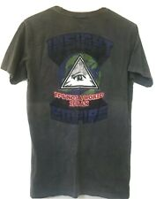 Insight Mens Tee Vintage Wash Cotton Faded Black Size S Used Graphic Print Top