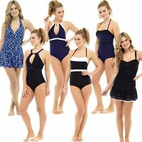 Ladies Tummy Control Padded Non Wired Swimsuit/Swimming Costume Size 10-22 NEW