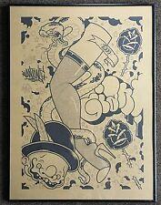 "Giant One Original Graffiti Art  ""Leg Show 1"" ca 2000 Mike Giant Rare 18 ""x 24"""
