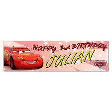 Personalized & Custom Printed Cars Lightning McQueen Birthday Party Banner