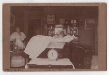 1896 DULUTH MINNESOTA Cabinet Photograph PHOTO Baby on Scale CHILD Newborn MN