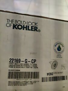 Kohler forte shower head 22169-G-CP Polished Chrome 1.75 gpm New