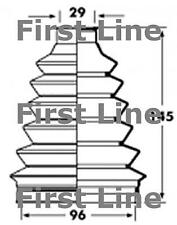 CV JOINT BOOT KIT FOR FIAT DUCATO FCB2361