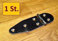 1 Stück Edelstahl Inox  VA Scharnier 130x40mm