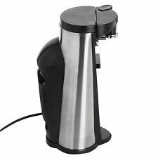 Nuovo Elettrico 3 IN 1 Apriscatole Include Affilacoltelli E Bottiglia Nero
