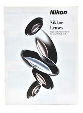 Nikon Nikkor Lenses & Assessories 31 Page Brochure, c-2001