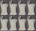"""(8) WHITE Double Braided 3/8"""" x 20' HQ Boat Marine DOCK LINES Mooring Rope Cord"""