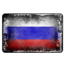 Kühlschrankmagnet,Magnetschild Motiv Flagge:Russland,shabby,chic,alt,abgenutzt