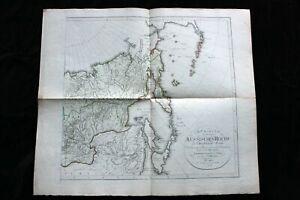 Große antike histor. Landkarte, Russisches Reich, Russland, Reinecke Weimar 1804