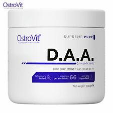 OSTROVIT DAA 200g - 66 Servings D-Aspartic Acid Pure Powder Testosterone Booster