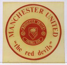 Manchester United Rare 1960's Vinyl Window Sticker