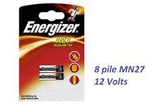 8 pile batterie A27 MN27  ENERGIZER 12 Volt   x  telecomando auto cancello