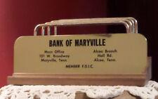 Bank of Maryville TN Letter Holder Vintage Vernco Old Iowa Walnut Gunstock Item