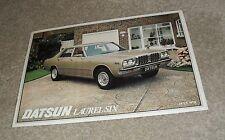 Datsun Laurel Six Brochure 1978 - UK Market