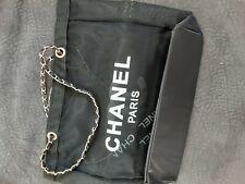 Chanel VIP Gift Shopper -Tasche Mesh CC Logo schwarz neu