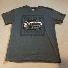 Ford F150 Raptor Truck Built Tough Shirt T-Shirt Large Tee Graphic Gray